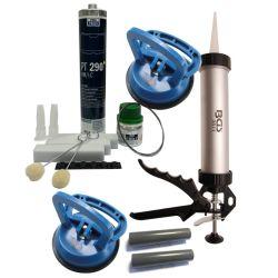 (€ 144,48 pro Liter) NEU Autoglas Montageset 1 mit hochwertigen Carlofon und BGS Komponenten