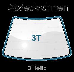 Abdeckrahmen 3 TLG Windschutzscheibe Frontscheibe für Renault R5 / Rapid Typ (F40, G40) Bj. 1985-2001