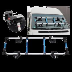 Windschutzscheiben-Montagegestell mit beweglichen Saugern